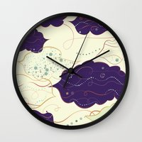 celestial Wall Clocks featuring Celestial by Grace Anne