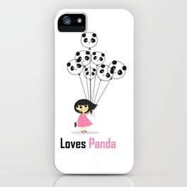 Girl Loves Panda T-Shirt - Panda Lovers T-Shirt For Women iPhone Case