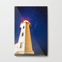Starry Night at Peggy's Cove Metal Print