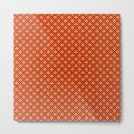 Diamond Pattern - Terracotta Metal Print