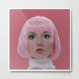 Pink doll lady Metal Print