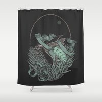 firefly Shower Curtains featuring Firefly  by BEADLER Design and Illustration