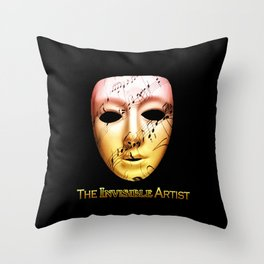 The Invisible Artist Throw Pillow