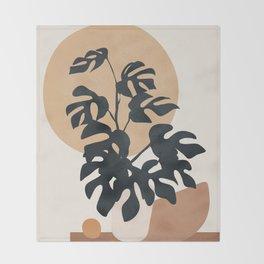 Minimal Pot Life II Throw Blanket