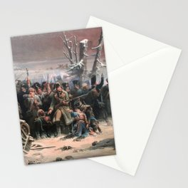 Adolphe Yvon - Marshal Ney Supporting the Rear Guard During the Retreat from Moscow Stationery Cards