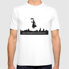 mary poppins White Mens Fitted Tee MEDIUM
