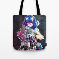 barachan Tote Bags featuring tough by barachan