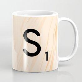 Scrabble Letter S - Large Scrabble Tiles Coffee Mug