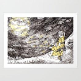 Feeding the Moon Art Print