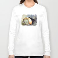 toucan Long Sleeve T-shirts featuring Toucan by Julie Lemons