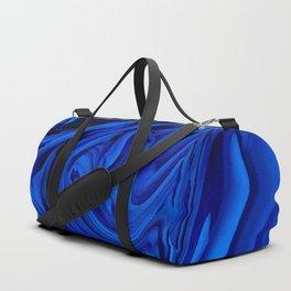Blue Liquid Marbled texture Duffle Bag