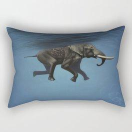elephant underwater Rectangular Pillow