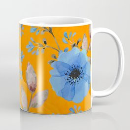 Blue flowers with orange Coffee Mug