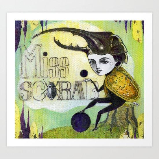 Miss scarab Art Print