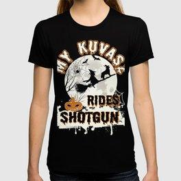 My Kuvasz Rides Shotgun Funny Gift Dog Lover T-shirt