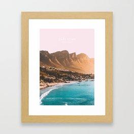 Cape Town, South Africa Travel Artwork Framed Art Print