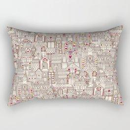 gingerbread town Rectangular Pillow