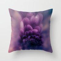 karen Throw Pillows featuring Deeper by Donuts