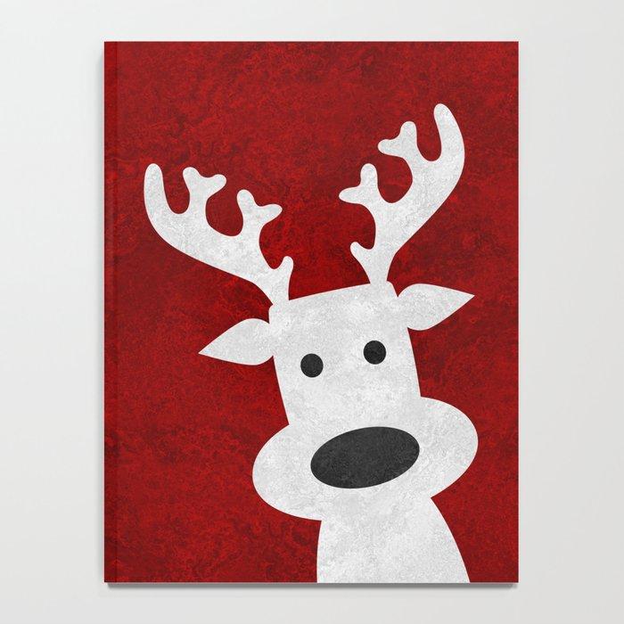 Christmas reindeer red marble Notebook