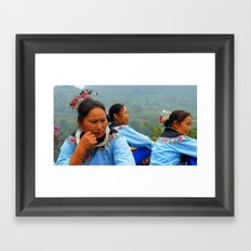 Meow People of China Framed Art Print