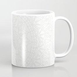 Cream on White Mandala Circle of Life Coffee Mug