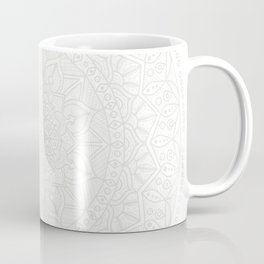 Cream on White Mandala Circle of Life Coffee Mug