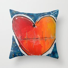 Go with you heart Throw Pillow