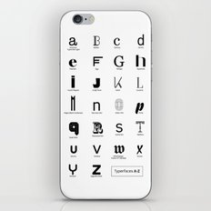 Typerfaces A-Z  iPhone & iPod Skin