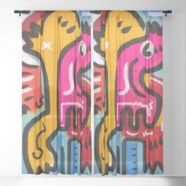 The Life Force Pop Art Graffiti Sheer Curtain