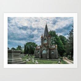 Billings Mausoleum Stonington Cemetery Connecticut Graveyard Art Print