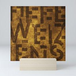 Hefeweizens Beer Typography Mini Art Print