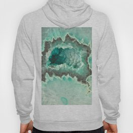 Minty Geode Crystals Hoody
