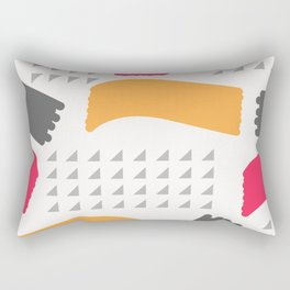 Modern triangles and happy colors Rectangular Pillow