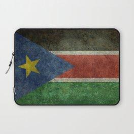 Republic of South Sudan national flag - Vintage version Laptop Sleeve
