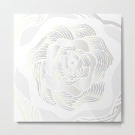 Big White Rose Metal Print
