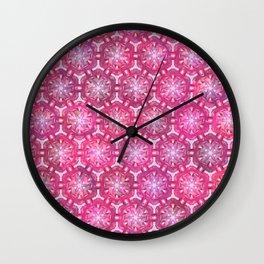 Dancing Pink Koi Wall Clock