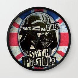 Sith Pistols - Force Choke The Queen Wall Clock