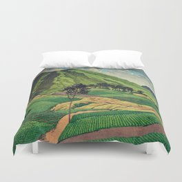 Crossing people's land in Iksey Duvet Cover