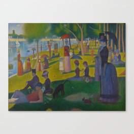 A Sunday Afternoon on the Island of La Grande Jatte Painting by Georges Seurat Pointillism Canvas Print