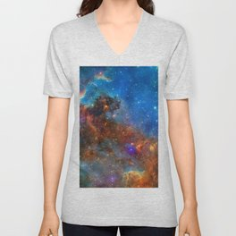 North America Nebula Unisex V-Neck