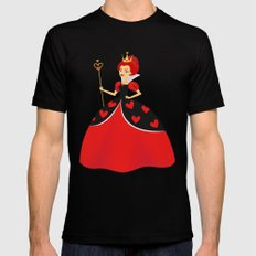 Queen of Hearts Mens Fitted Tee Black MEDIUM