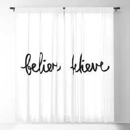 Believe, In your self, Trust, Motivation, Dreams, Anything is possible, Success, Work hard, Promise Blackout Curtain