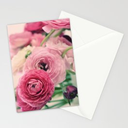Ranunculus in Pink Stationery Cards