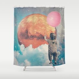 Balloon, Baby and Moon Shower Curtain