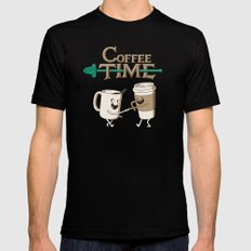 Coffee Time! Black Mens Fitted Tee MEDIUM