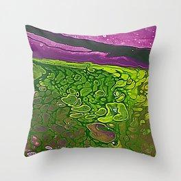 Green Cells Throw Pillow