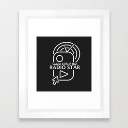 Video killed the radio star (white edition) Framed Art Print