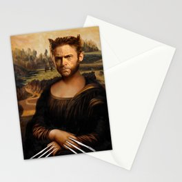 Hugh Jackman Mona Lisa Face Swap Stationery Cards