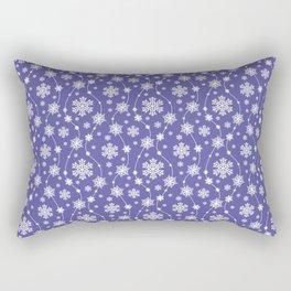 Purple Holiday Snowflake Pattern Rectangular Pillow