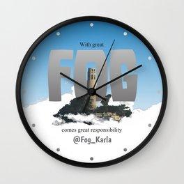 Karla the Fog Wall Clock